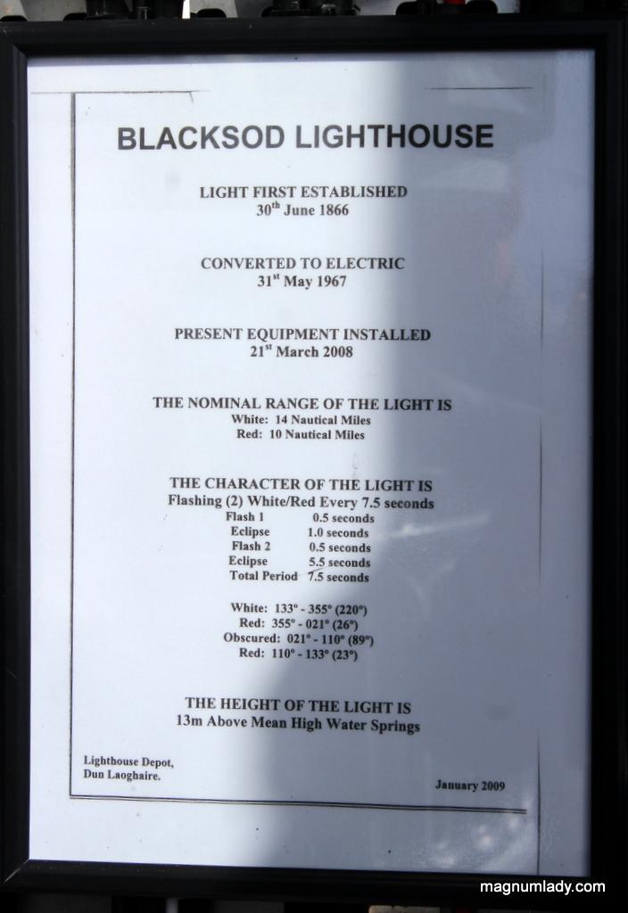 Blacksod Lighthouse information