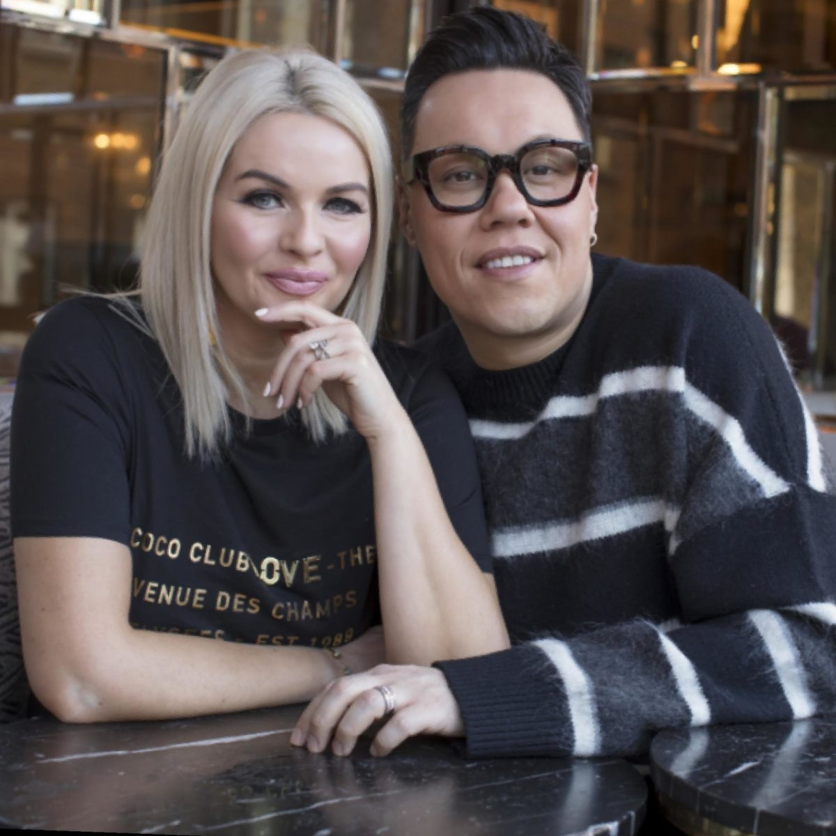 Dating show with gok wan glasses
