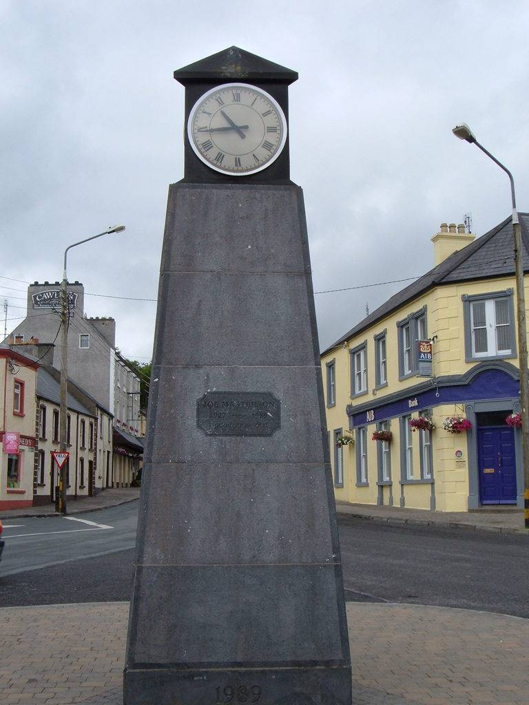 Clock in Tubbercurry Sligo