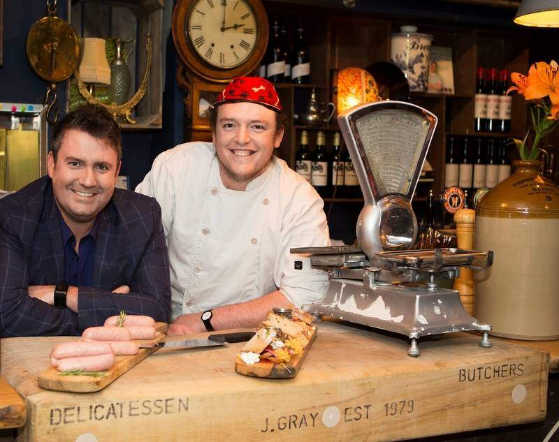 Anthony and chef Joe at Hooked sm (Photo Donal Hackett)