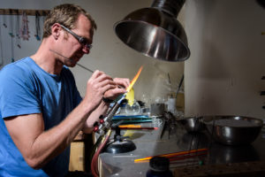 Graham Reid glass making
